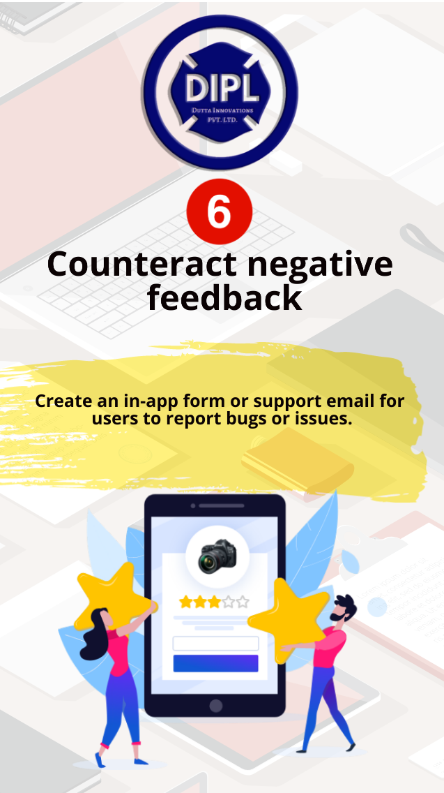 Counteract negative feedback